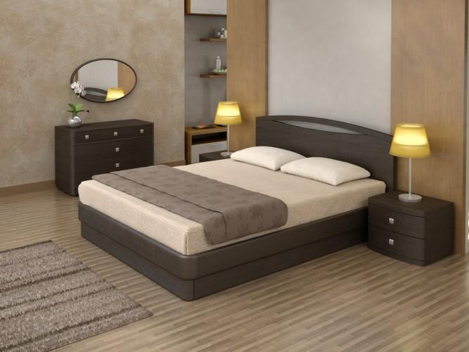 Кровать Торис (Toris) Юма Сорен из массива сосны, шпона дерева, с подъемным механизмом (артикул: А-3651)