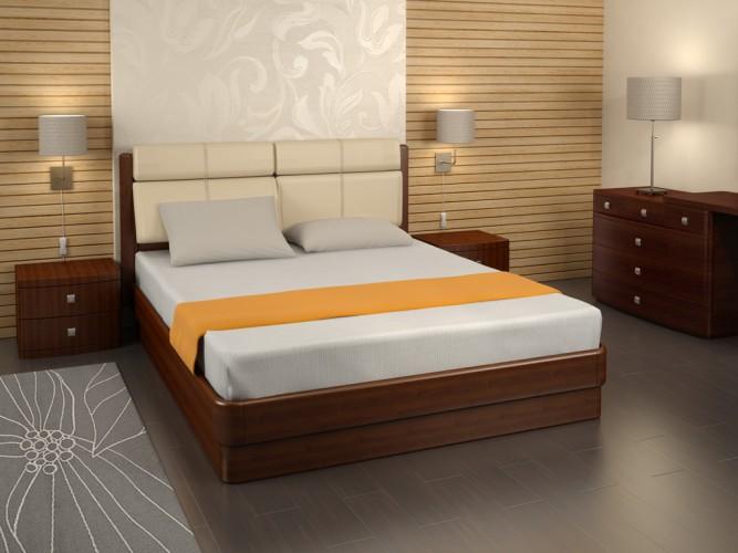 Кровать из шпона натурального дерева
